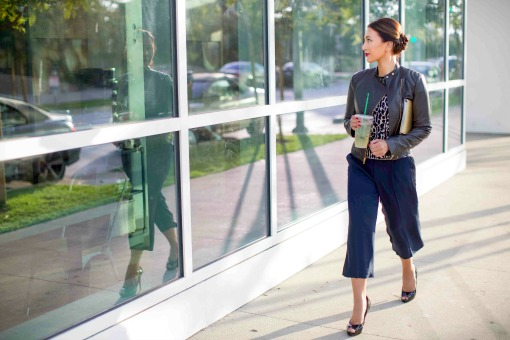 leather-outfit-for-work-Ann-Taylor-jacket-with-leopard-print