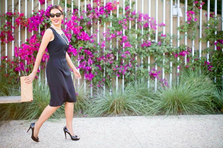 Tailored Black PIOL Dress