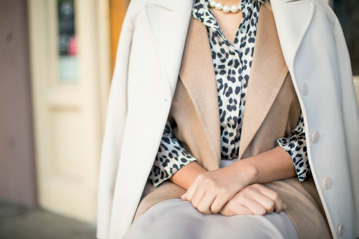 Leopard Print Matched with Neutral Colors
