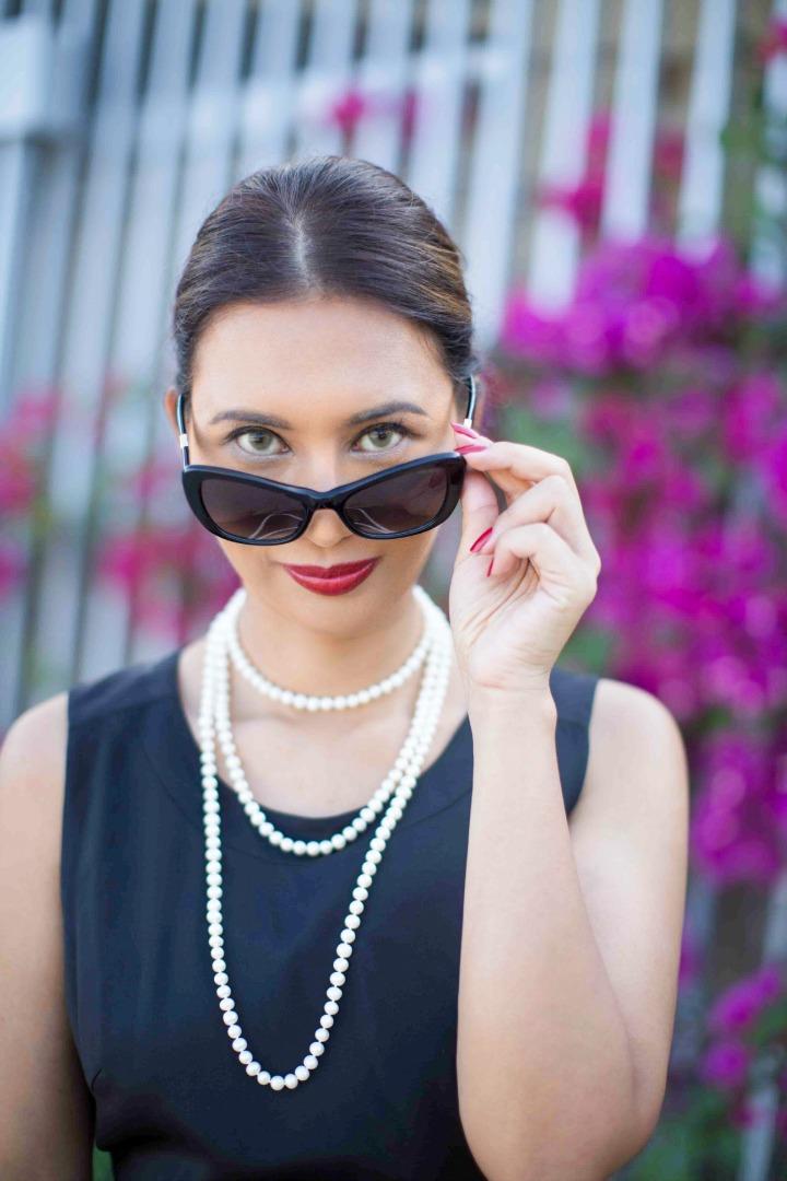 Black Cat Eye Nina RIcci Sunglasses