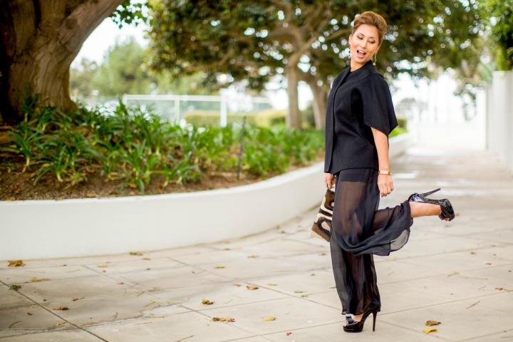 Valentino Strapless Silk Jumpsuit