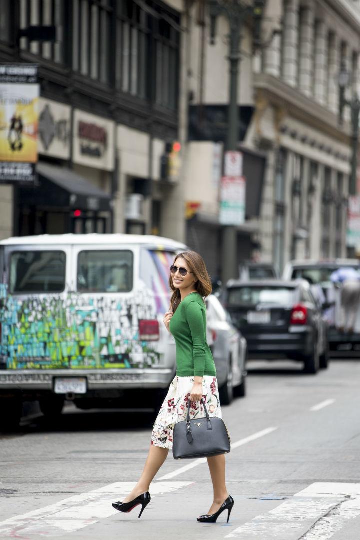 Heidi DTLA Green Floral Skirt 5 rsz