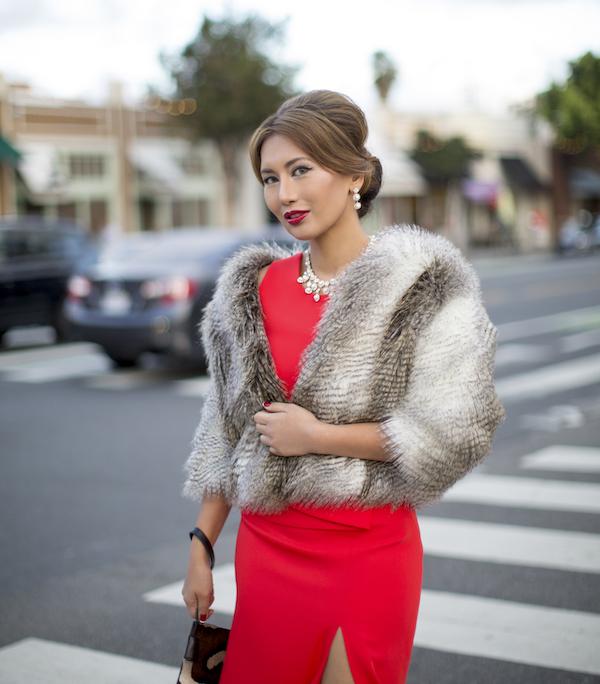 Heidi Nazarudin In Red Dress