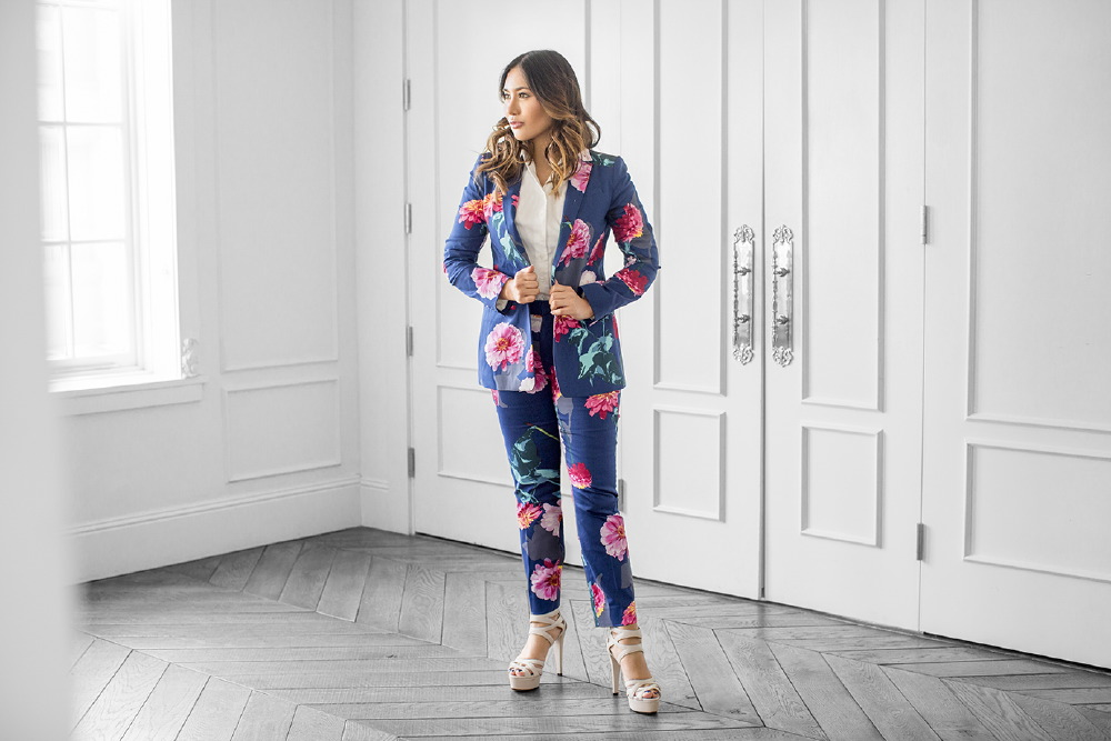 Floral Suit By Banana Republic