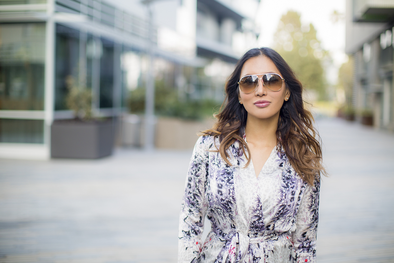 Fashionable Woman in Aviators