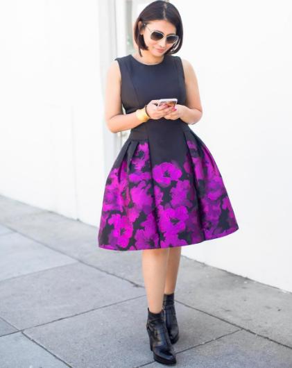 Heidi Nazarudin wears floral dress