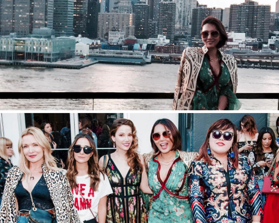 heidi nazarudin and friends at nyfw 2017